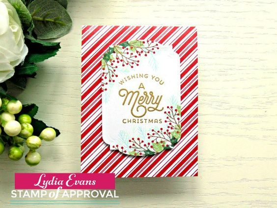 Traditional Christmas Card Using SOA Candy Cane Lane Collection