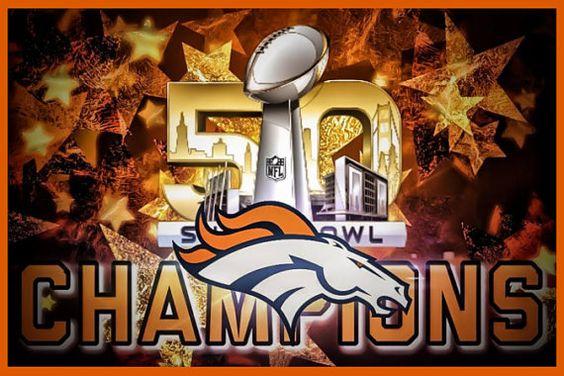 Denver Broncos Super Bowl 50 NFL Champions by MagnetDepotPlus