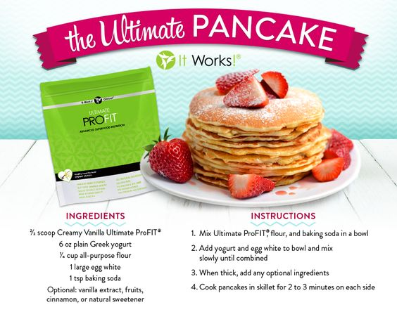 Everyone knows profit is my fave....It's so amazing that you can cook with this protein powder.  No one is the wiser that these pancakes are packed with nutrition! www.wrapwithanna.com