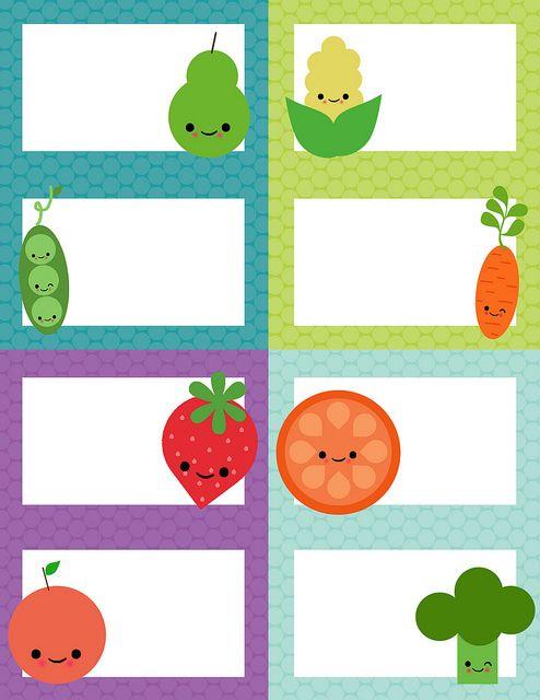 Tarjetas de vegetales