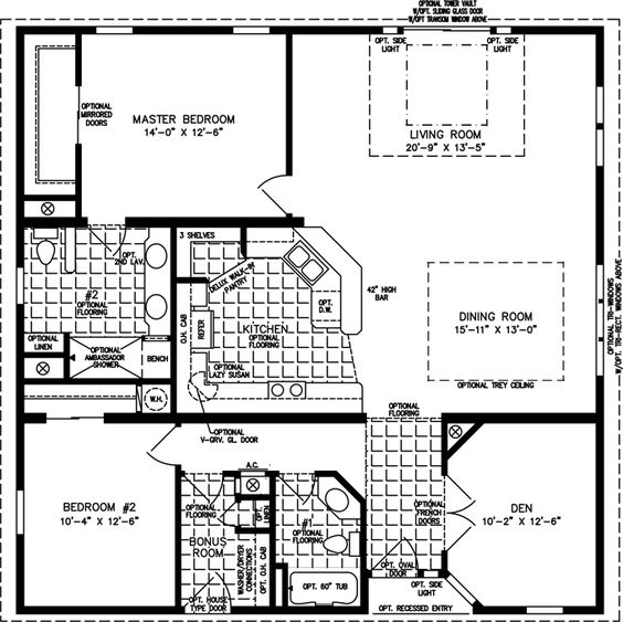 Home Guest Houses And Manufactured Homes Floor Plans On