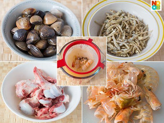 Hokkein Mee Prawn Stock Ingredients