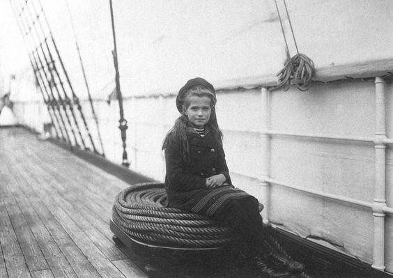 "Grand Duchess Maria Nikolaevna aboard the Russian Imperial Yacht ""Polar Star"", 1907"
