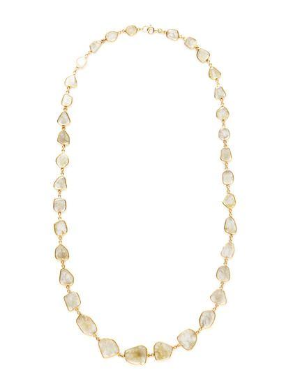 Amrapali  Diamond Multi-Shape Graduated Station Necklace