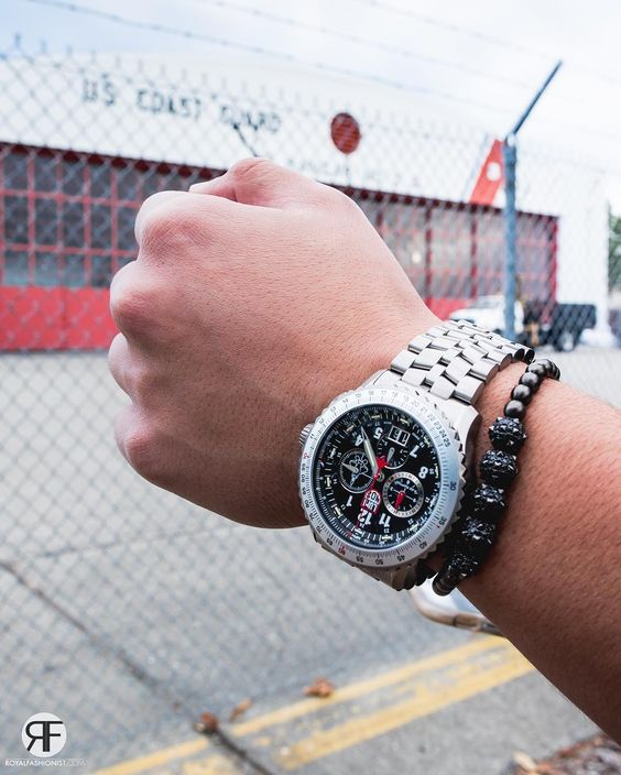 @luminoxworld and #MDAJewelry Spike Bracelet ✨ [ www.RoyalFashionist.com ]