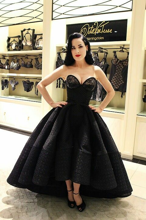 Oh my Dita this dress! From her Von Follies launch at ...