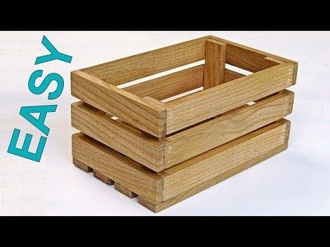 How To Make A Wooden Crate Box Nice Diy Wooden Box Youtube Wooden Box Diy Wooden Crate Boxes Wood Crate Diy