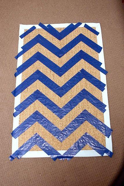 How to make a chevron door mat.