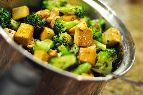 Roasted Broccoli Udon