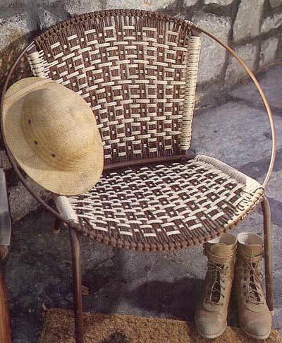 Chair Pattern Macram Pinterest Patterns Fabrics