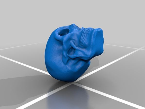 Basic skull sculpted in Sculptris. If you made this please post a photo, would love to see some beautiful prints.