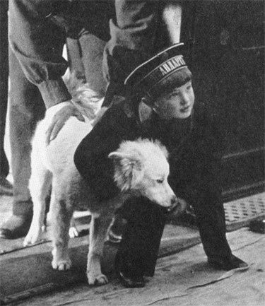 Alexei Romanov and friend - don't know if this was an actual pet of his.  That dog could've easily nipped or scratched Alexei, causing life threatening bleeding.  That his parents let him play with animals and even have pets of his own is a testimony to their determination to give Alexei a normal life despite his grave condition.:
