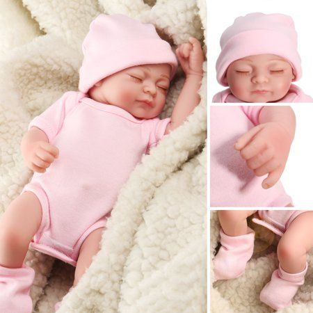 "11/""-Handmade-Reborn-Real-Looking-Newborn-Baby-Girl-Vinyl-Silicone-Realistic-Doll"