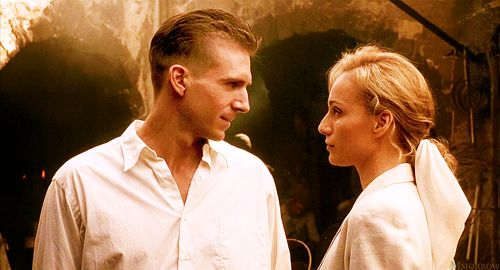 Ralph Fiennes and Kristin Scott Thomas in The English Patient