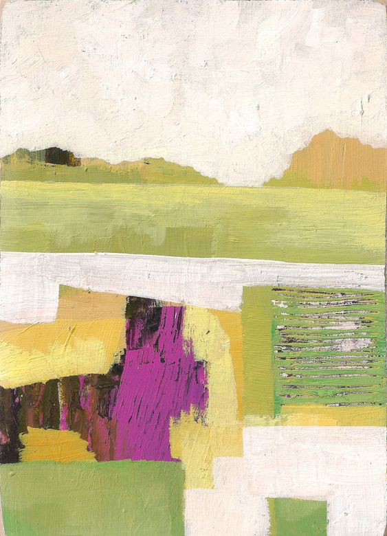 Abstract minimalist landscape by melissa averinos art for Minimal art landscape