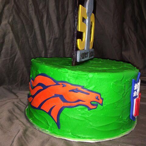 Super Bowl 50 cake Broncos by yuMM
