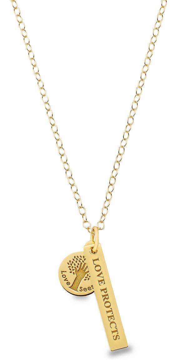 Love Protects 18 kt Gold Vermeil Necklace