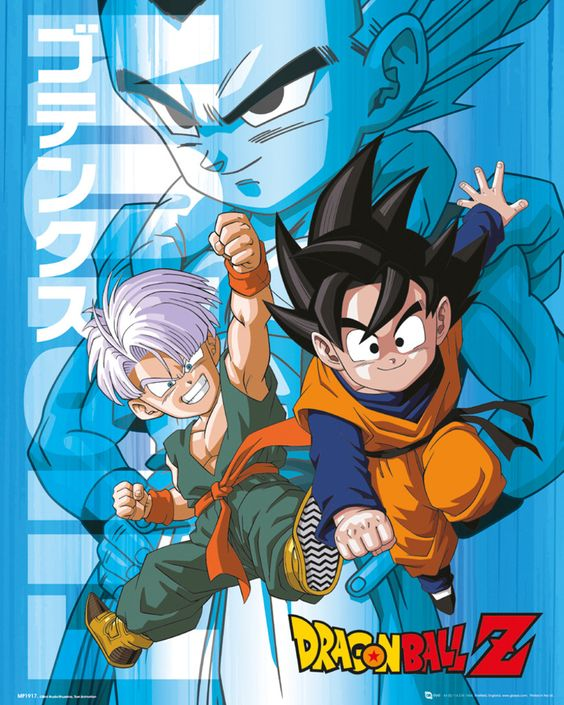 Dragon Ball Z - Trunks and Goten - Official Mini Poster. Official Merchandise. FREE SHIPPING
