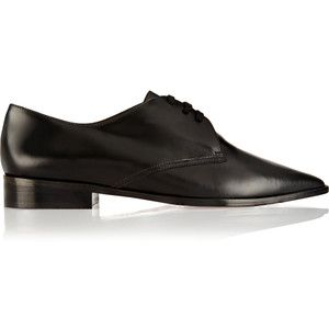Marni Leather lace-up flats