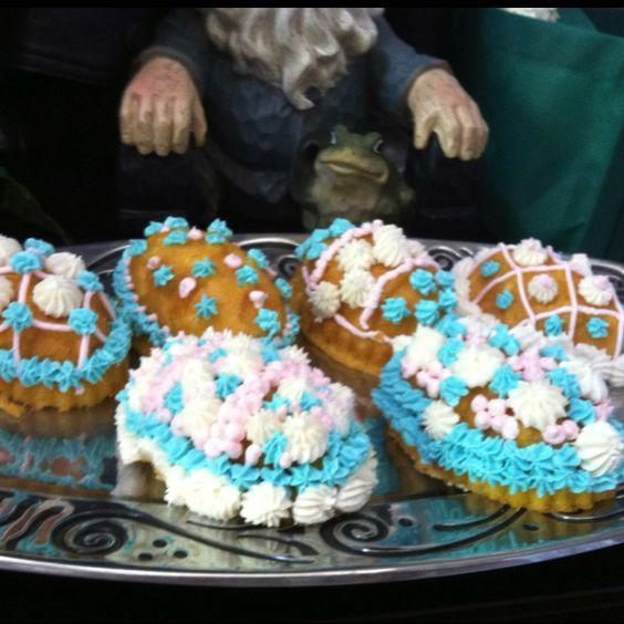 """Easter 2011 """"Egg Cakes"""" using Nordic Baking Pan"""