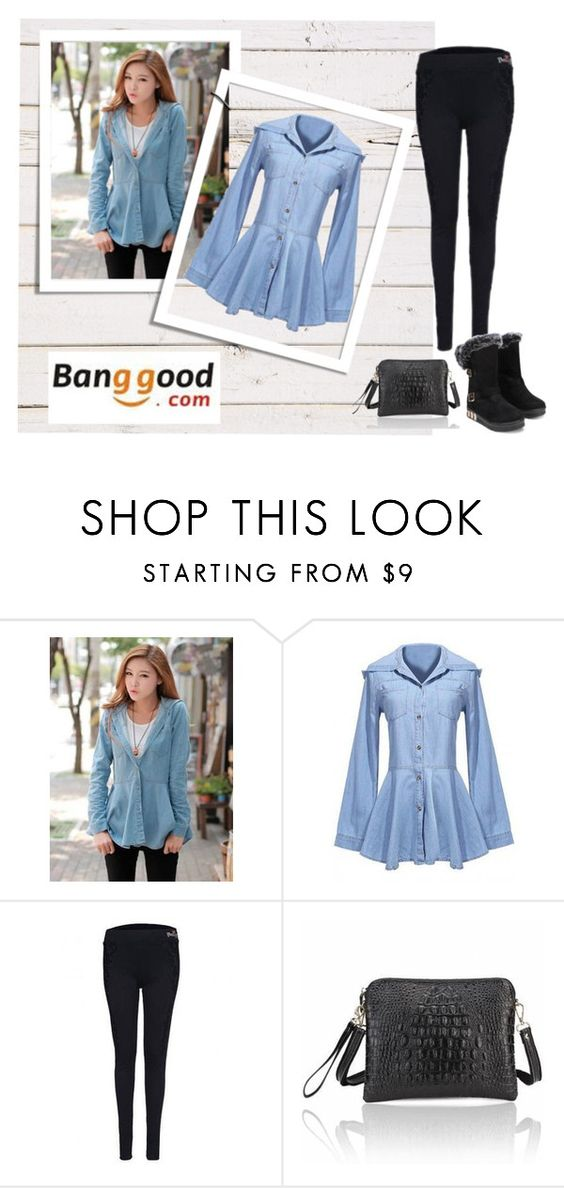 """Banggood I / 18"" by dzenyy ❤ liked on Polyvore featuring BangGood"