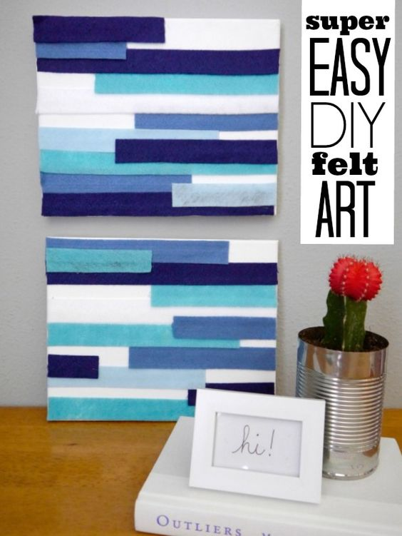 DIY felt wall art... easy and cheap!