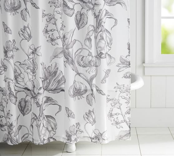 Pippa Print Shower Curtain Potterybarn Printed Shower Curtain