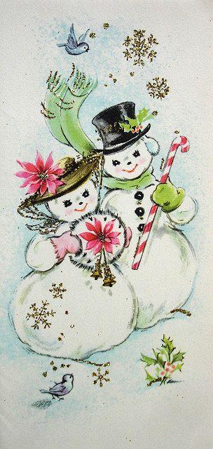 Early 1960s Vintage Christmas Card Christmas Graphics 4