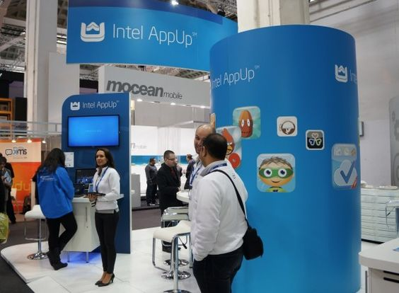 Intel and Intel AppUp Booth Tour at MWC via ChipChick