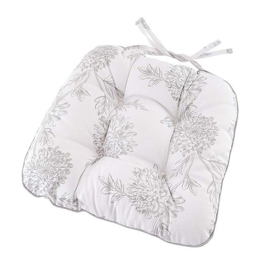 Etched Floral Seat Pad   Dunelm