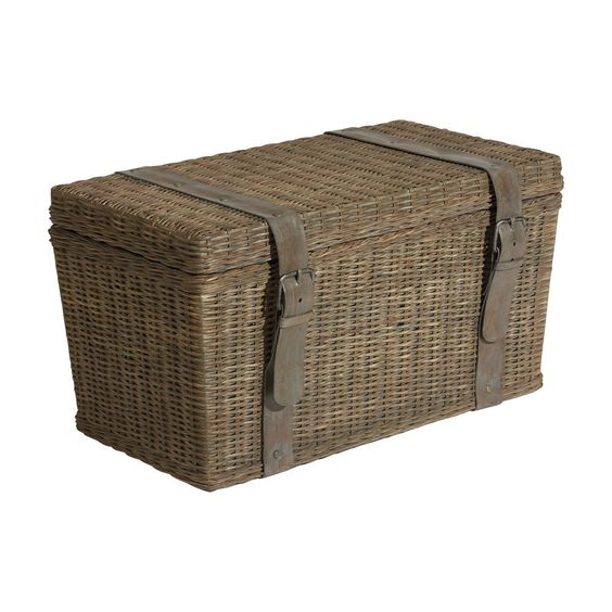 With A Designer Attitude Our Wicker Truck Creates A Spirit Of Adventure In Any Room Gray