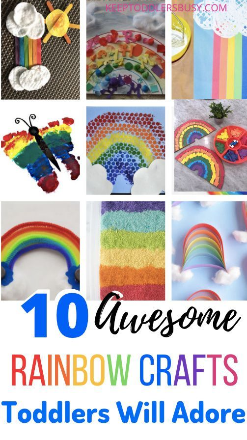 10 Awesome Rainbow Crafts Kids Will Love Rainbow Crafts Kids Rainbow Crafts Toddler Arts And Crafts Rainbow art activities for preschoolers