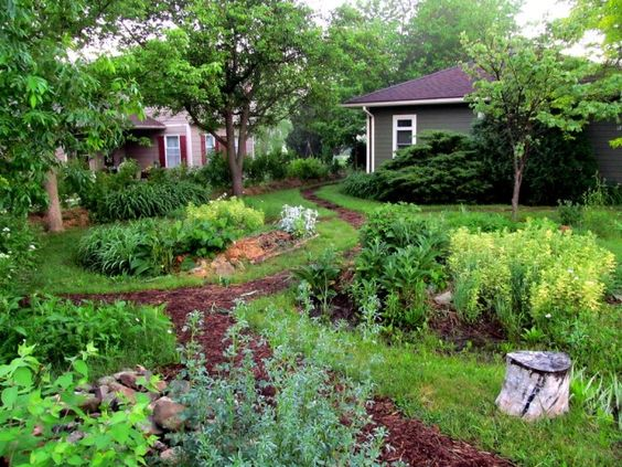 Home of midwest permaculture 2014 front yard rain garden for Small permaculture garden designs