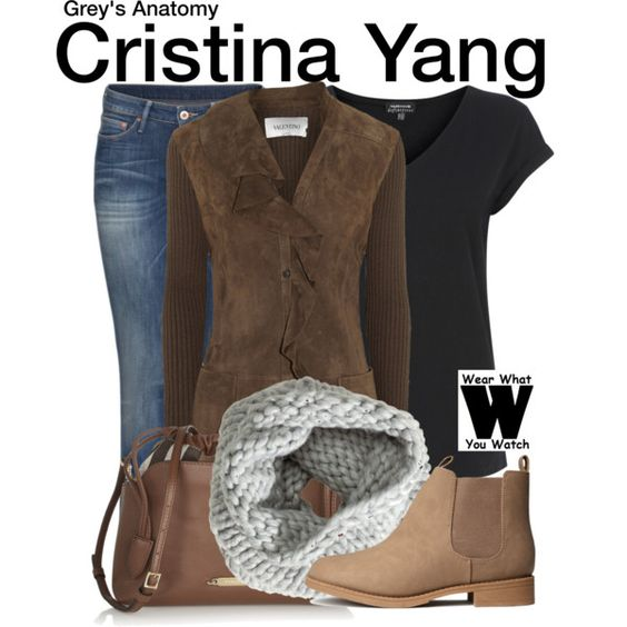 Inspired by Sandra Oh as Cristina Yang on Grey's Anatomy.