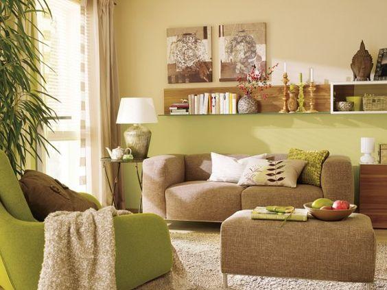 Ideen » Wohnzimmer Ideen Braun Grün - Tausende Bilder Von ... Wohnzimmer Ideen Braun Grun