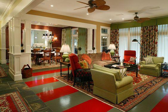 Amanda Webster Design: Traditional Eclectic Living Room Interior Design / Photo: Neil Rashba