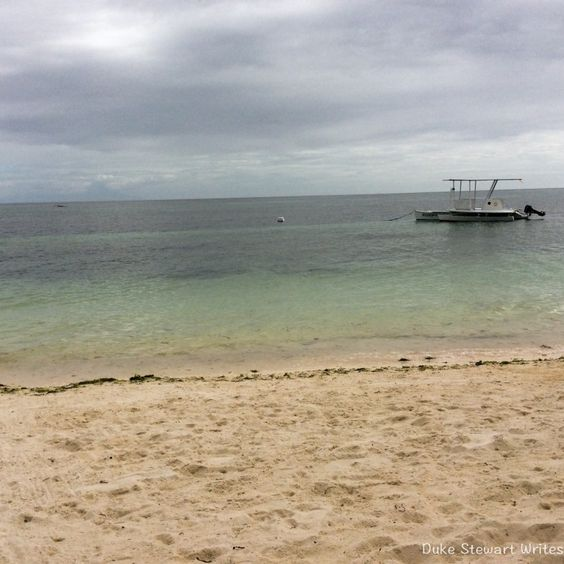 Watching the beach at Anda, the Philippines