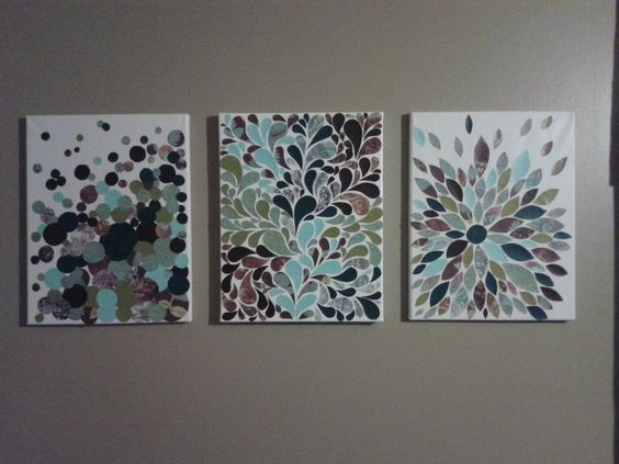 scrapbook+paper+canvas+art | My scrapbook paper and canvas art! | Crafts for the craft-lacking