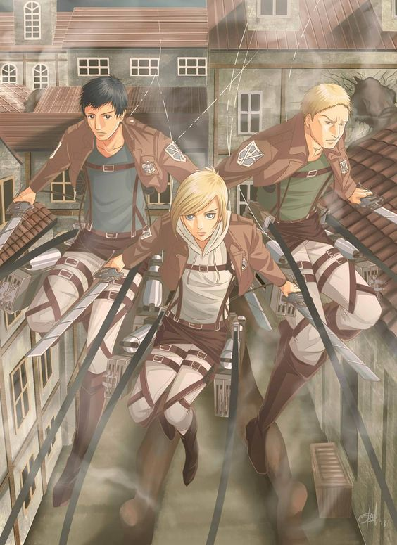 Berthold Annie Reiner Warriors Of Marley Attack On Titan Titans Anime