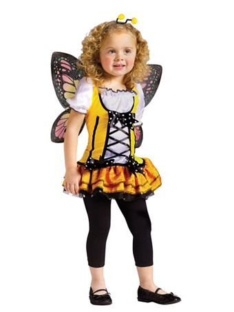 Toddler Butterfly Princess Costume | Infant/Toddler Bee/Bug/Butterfly Halloween Costumes