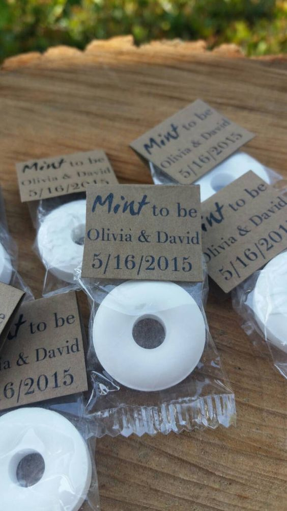 100 Mint To Be Wedding Favors Rustic Wedding Favors Mint Wedding Favors Bridal Shower Favors