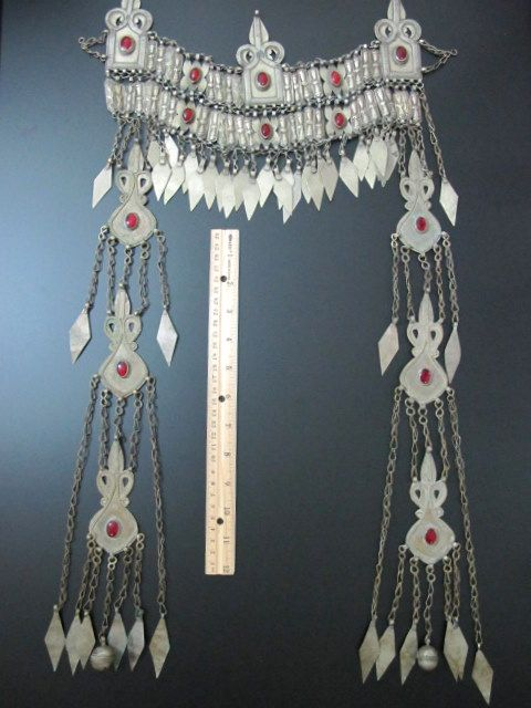 Turkoman headress, nicer than the one I own, loads of fun to wear.