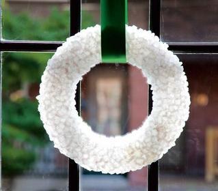 wreath made of rock sugar!
