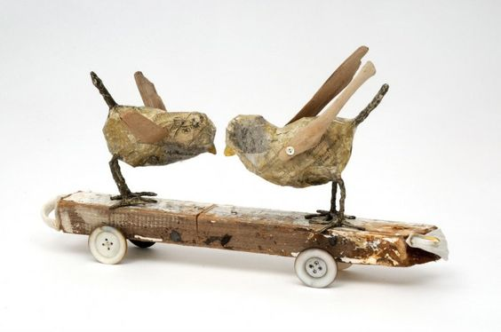 """China Chicks"" - Caroline Lingwood , mixed media"