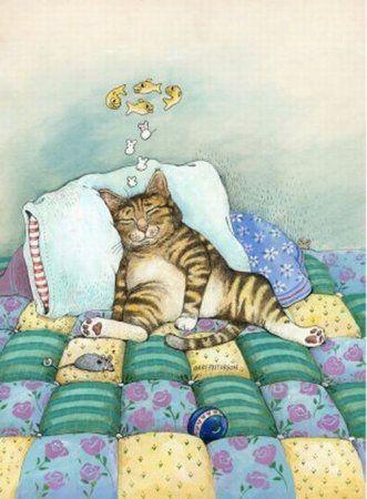 Рисованные котики.