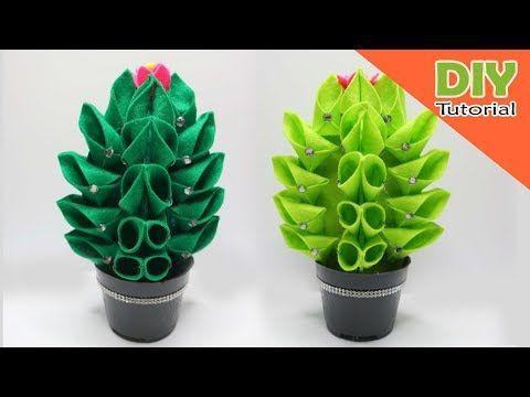 Cara Membuat Tempat Permen Terbaru Bentuk Kaktus Kaktus Handmade Homedecor Youtube Crafts Handmade Make It Yourself