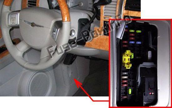 Chrysler Aspen (2004-2009) < Fuse Box location | Fuse box, Chrysler,  Electrical fuse