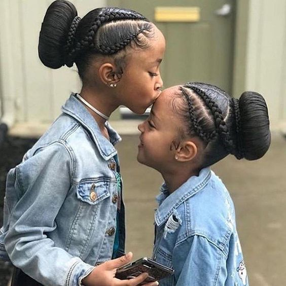 Natural Hair Updo Styling For Black Women To Style Their Hair At Home Kids Hairstyles Girls Lil Girl Hairstyles Black Kids Hairstyles