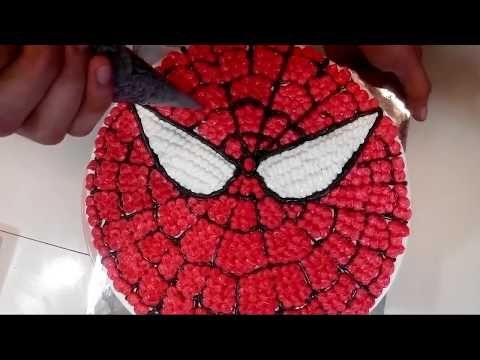 Spiderman Cake Bulat Cara Membuat Kue Karakter Ulang Tahun Spiderman Cake Bulat Youtube Bolo