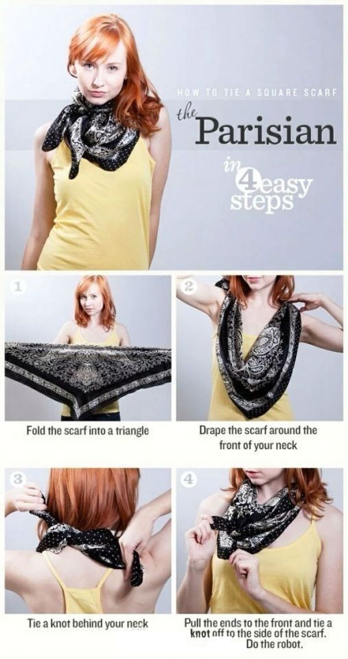 DIY Scarf Parisian diy diy fashion diy accessories fashion diy diy idea craft ideas diy ideas easy diy scarf